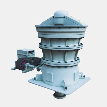 Gyratory cone crusher with large production volumes